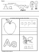 Write Trace and Color Worksheets (NO PREP)