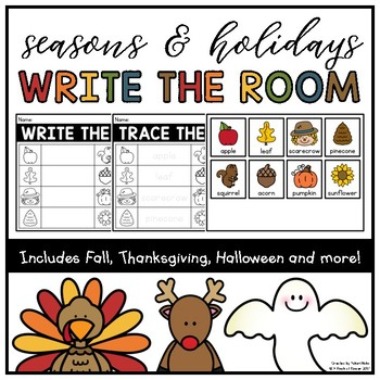 Seasons & Holidays Write/Trace the Room for Kindergarten