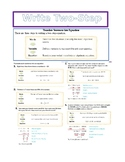 Write Two-Step Equations
