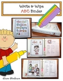 Alphabet Activities: Write & Wipe Alphabet Practice Binder