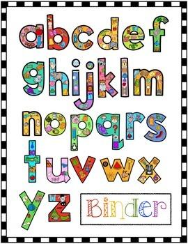 Alphabet Activities: Write & Wipe Alphabet Practice Binder