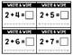Write & Wipe:  Addition Fluency to Ten Math Center