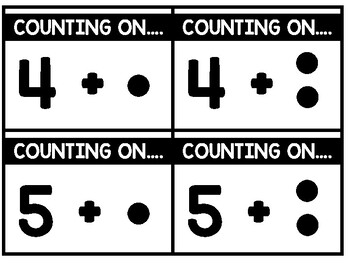 Write & Wipe:  Addition to 10 Using the Count On Strategy Math Center