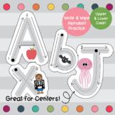 Write & Wipe- Alphabet Tracing Worksheets for Preschool & Kindergarten