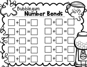 Write & Wipe--Bubblegum Number Bonds for K-2