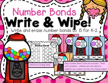 Write & Wipe--Bubblegum Number Bonds for K-2