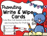 Write & Wipe--I Love My Blue Cat Prewriting Cards for PK-K