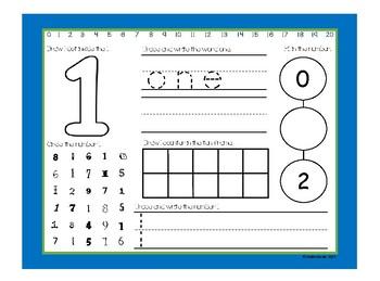 Write & Wipe Kindergarten Number Sense Math Center: Color Double-Sided Math Mats