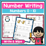 Numbers Handwriting Practice 0 - 10