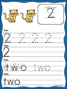 Numbers Handwriting Practice 0 - 10