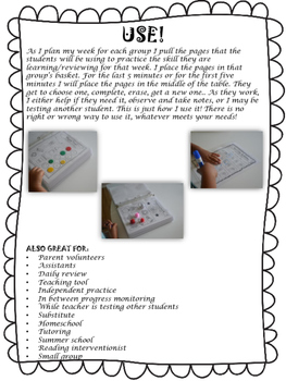 Write & Wipe Reading Intervention Binder 2 Phonemic Awareness