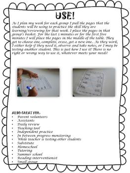 Write & Wipe Reading Intervention Binder 3 Beginning Phonics & CVC
