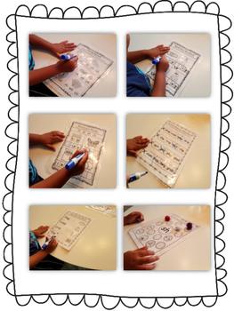 Write & Wipe Reading Intervention Binder 4 Blends & Digraphs