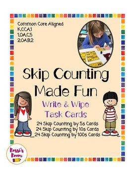 Write & Wipe Skip Counting Task Cards