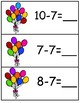 Write & Wipe Subtraction---BalloonThemed Center for Your K