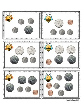 Write & Wipe Task Cards: Counting Coins