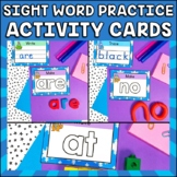 Winter Sight Word Activities | Trace, Write & Build | Dolc