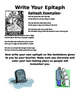 Write Your Funny Epitaph