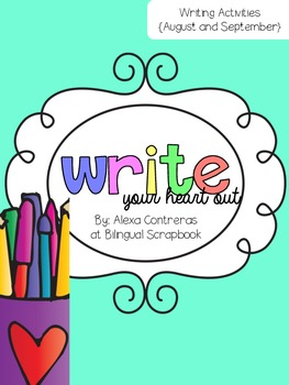 Write Your Heart Out {Vocabulary Cards and Writing Activities for Aug and Sep}