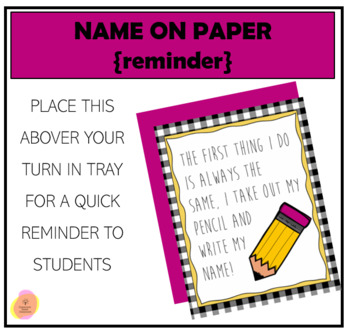 Write Your Name!