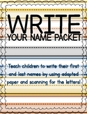 Write Your Name: Adapted Paper for Students