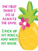 Write Your Name FREEBIE Flamingo Tropical Theme