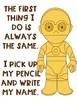 Write Your Name FREEBIE Star Wars Theme