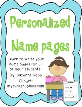 Write Your Name Page