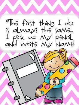 Write Your Name Reminder!