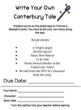 Write Your Own Canterbury Tale