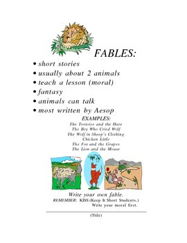 Write Your Own Fable