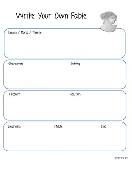 Write Your Own Fable Mini Lesson
