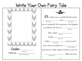 Write Your Own Fairy Tale By Teach Everything Teachers Pay Teachers