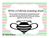Write Your Own Folktale Planning