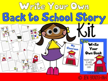 Write Your Own Story BACK TO SCHOOL, Make Book, Beginning
