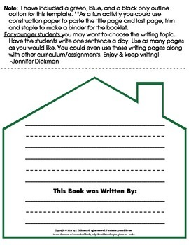 Write Your Own Story-House Template