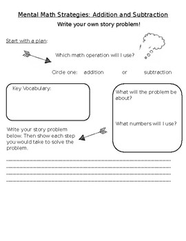 Write Your Own Story Problems