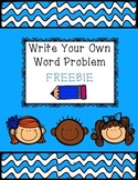 Write Your Own Word Problem