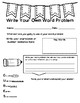 Write Your Own Word Problem Template