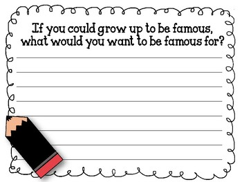 Write Your Thoughts. Bulletin Board Set. Writing. Grow up to be Famous...
