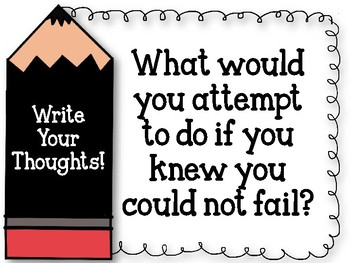 Write Your Thoughts. Bulletin Board Set. Writing. What would you attempt?