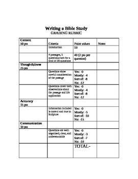 Write a Bible Study Project