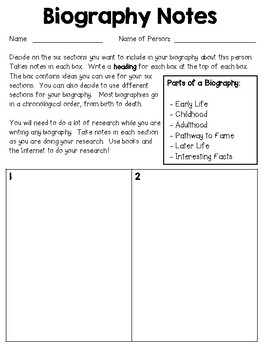 Write a Biography - Mary Anning: Fossil Hunter (or any other person)