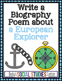 Write a Biography Poem About a European Explorer