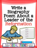 Write a Biography Poem about a Leader of the Protestant Reformation