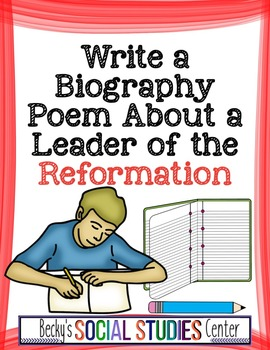 Write a Biography Poem about a Leader of the Protestant Re