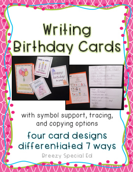 Incredible Write A Birthday Card Differentiated For All Your Special Education Birthday Cards Printable Giouspongecafe Filternl