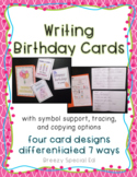 Write a Birthday Card Differentiated for ALL your Special