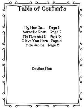 Write a Book of Poems for Mom or Mother's Day Poetry Writing