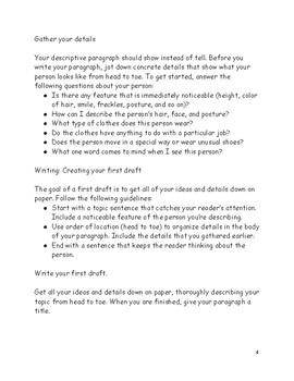 Write a Descriptive Paragraph